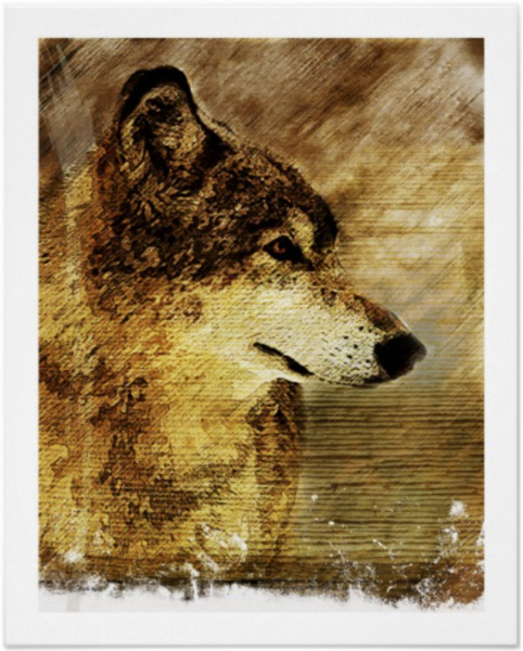 Timber Wolf illustration by William Martin of WiM-Designs