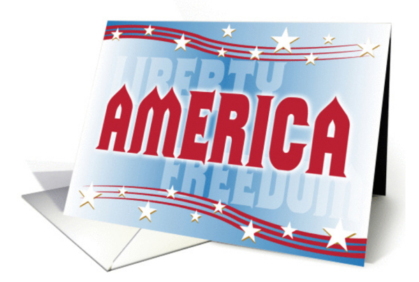 AMERICA patriotic greeting card by William Martin of WiM-Designs